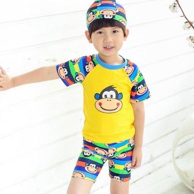 兒童泳衣男童分體游泳衣防曬泳褲套裝小童寶寶速乾泳裝