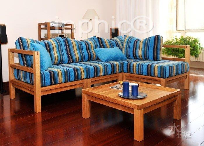 INPHIC-外銷歐洲實木傢俱橡木環保組合沙發幻影-拐角椅