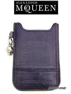 喬瑟芬【ALEXANDER MCQUEEN】特價$8900~2012春夏紫色蛇紋 BLACKBERRY HOLDER 手機套/保護套