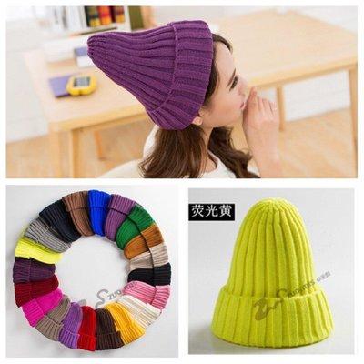 熱銷 出清秋冬多色針織厚款毛線帽