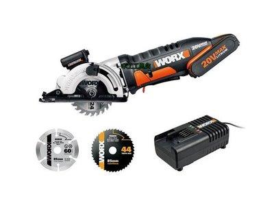 (木工工具店)WORX 威克士 WX523 20V 鋰電池 多功能圓鋸機