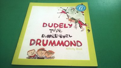 大熊舊書坊- 英文童書繪本 DUDELY THE DAREDEVIL DRUMMOND 何嘉仁 附CD-5*47