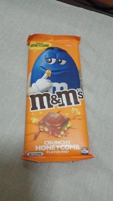 M&M's蜂巢糖味朱古力條 honeycomb chocolate bar 160g