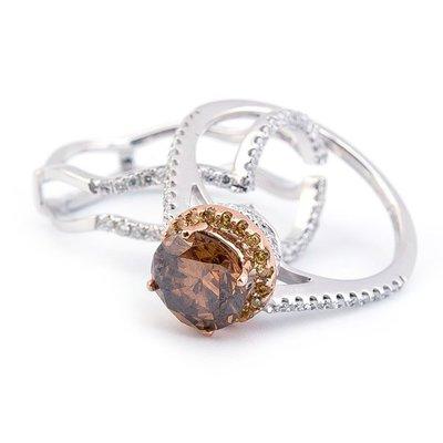 【JHT 金宏總珠寶/GIA鑽石專賣】1.44ct天然香檳鑽戒/材質:18K(D000083)