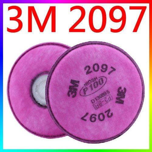 {CF舖}3M 2097 P100濾棉2片入(防有機蒸氣異味、油性懸浮微粒)(3M2097噴漆防塵非2071 2091