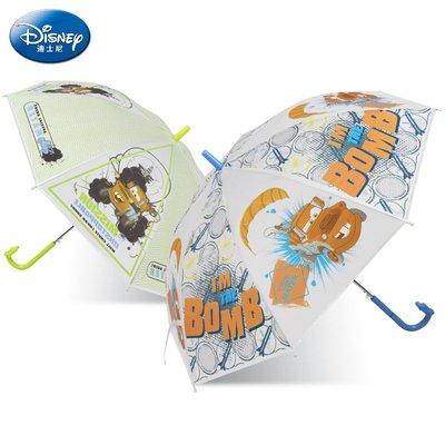 【berry_lin107營業中】迪士尼兒童傘汽車透明卡通半自動男童小孩學生寶寶防夾直桿晴雨傘