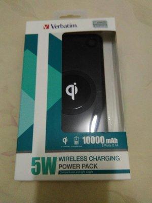 Verbatim 5w wireless charging 10000mah Qi 無線充電 行動電源 Power Pack