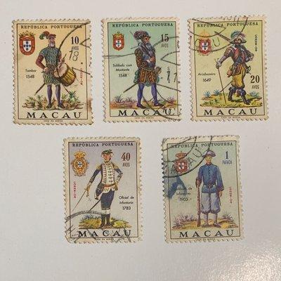 澳門郵票 1966年Portuguese Military Uniforms
