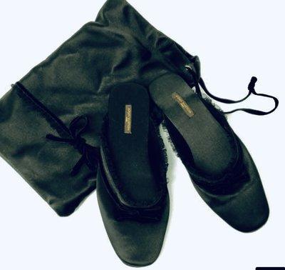 全新LV 麂皮底 蕾絲 絲緞 純絲緞鞋套