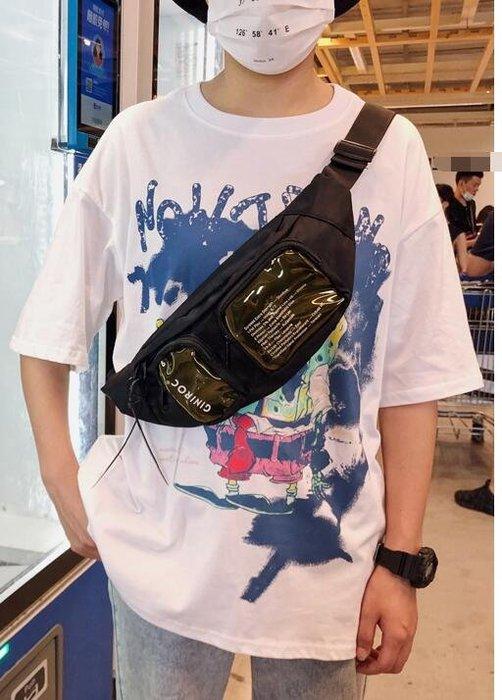 FINDSENSE X  男女 半透明胸包日系斜挎包男女戰術包工裝機能腰包