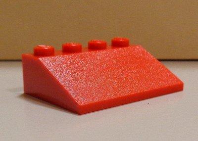【LEGO樂高】城市城堡系列建築零件 紅色 3x4格 屋頂 斜坡 Slope