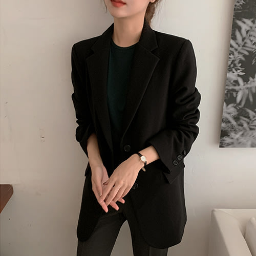 i-Mini 正韓|時尚單排雙釦西裝外套|4色‧ 韓國連線‧代購‧空運【C11033303ev】