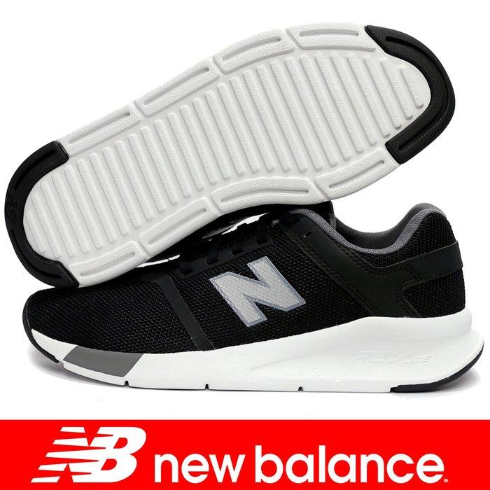 鞋大王New Balance MS24BS2-D 黑×白 時尚運動鞋【免運費,加贈襪子】802NB
