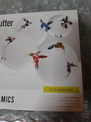 flutter loveramics 花鳥餐盤 只有2個 為圖上面2個 全新
