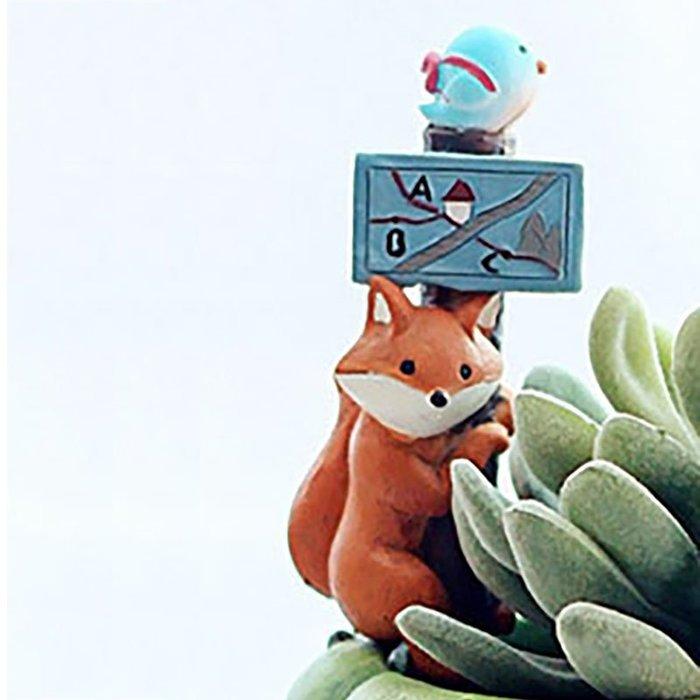 狐狸不腳滑多肉花插☆ VITO zakka ☆多肉盆栽擺飾/苔癬微景觀/園藝資材/布景/裝飾/擺件/小物