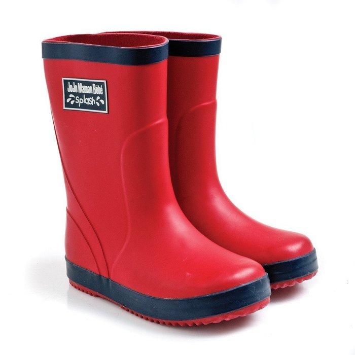 【兔寶寶部屋】JoJo Maman Bebe-幼童經典素色雨鞋-紅色