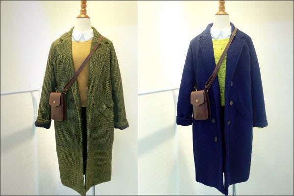 Miss Q (現貨)【M-15-996】出清款~冬裝韓國原單英倫風復古帥氣修身長款西裝外套