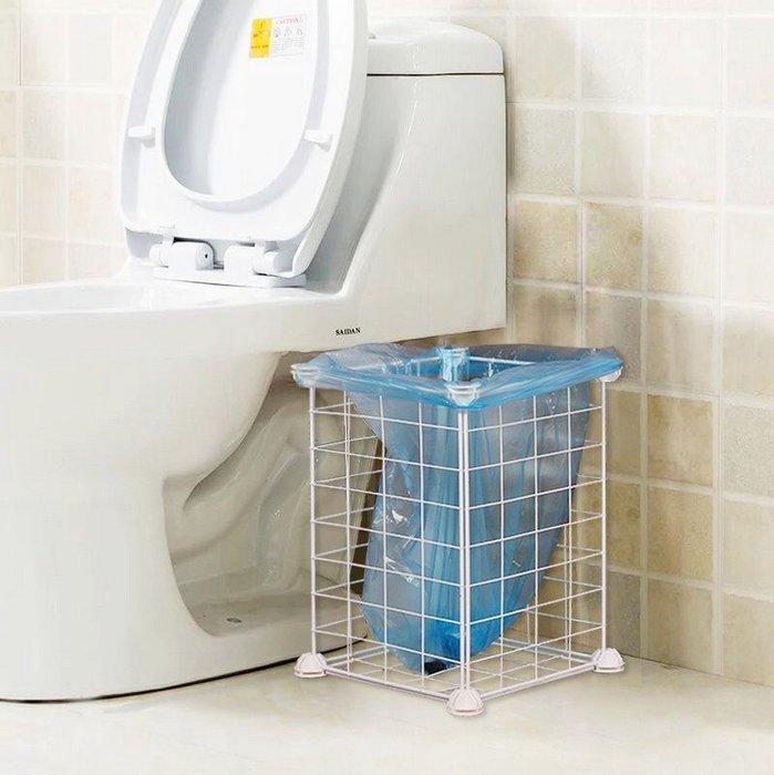 鐵藝垃圾桶-簡易組裝式垃圾桶 臥室 衛生間 廚房收納架 家用收納桶_☆優購好SoGood☆