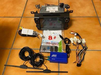 RAV4 JHY A12車機 升級拆下 包含主機-JHY A12/GPS衛星導航/數位電視-DVB-JS1/手機投影連接螢幕KT-MB220