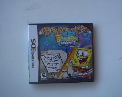 全新NDS 海綿寶寶塗鴉大冒險 英文版(3DS可玩) Drawn to Life SpongeBob Squarepan