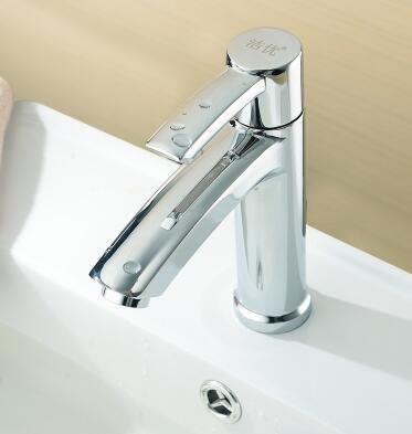 單冷面盆水龍頭 洗手盆洗臉盆台下盆龍頭 全銅單冷水龍頭