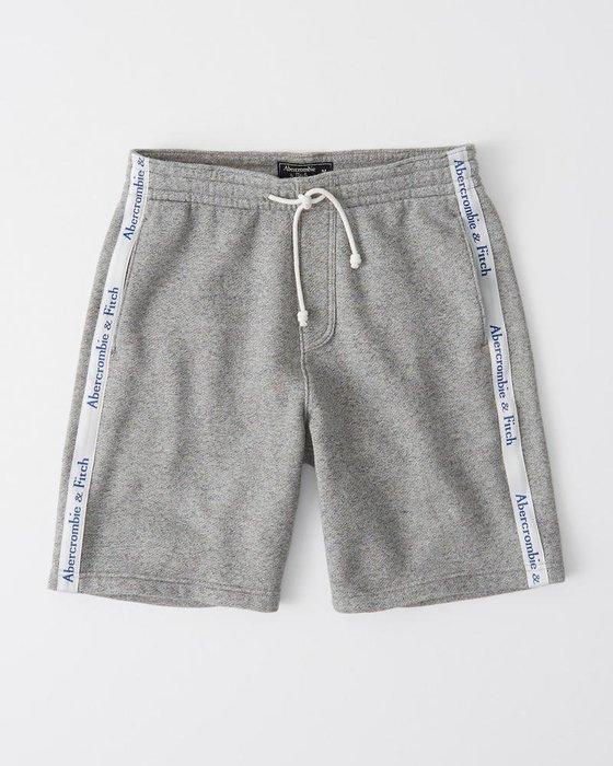 Maple麋鹿小舖 Abercrombie&Fitch * AF 灰色邊條字母短棉褲 * ( 現貨M號 )