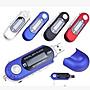 全新 七彩顯示屏裝電池MP3 USB直插8G 8GB MP3 播放器 mp3 隨身碟 送 耳機