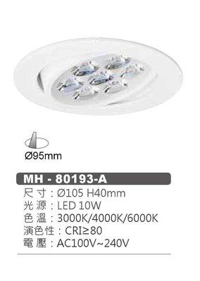 台北市長春路 MARCH 9.5公分 小崁燈 10W 高演色性 高清晰度 可調角度 嵌燈 珠寶燈 櫥櫃燈