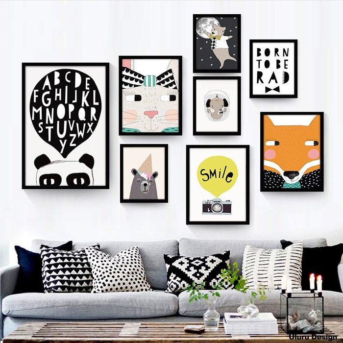 北歐風格掛畫 Uluru Design 油畫布 實木外框 裝飾畫 糜鹿壁畫 掛牆畫 客廳 臥室 北歐風工業風 鄉村風