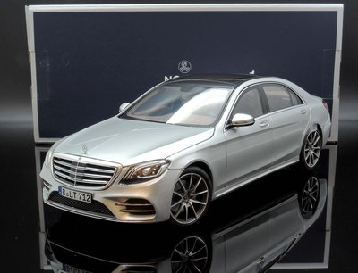 【M.A.S.H】現貨特價 Norev 1/18 Mercedes S-Class AMG-Line 2018 銀