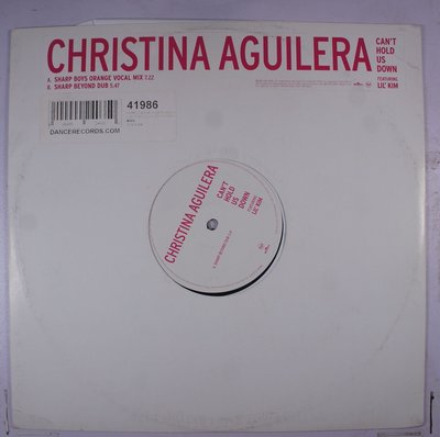 《二手英版單曲黑膠》Christina Aguilera – Can't Hold us Down
