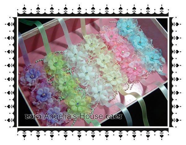 *Angelia*-【新娘飾品】B-37.可愛珍珠蕾絲手綁花(15色)混搭配色