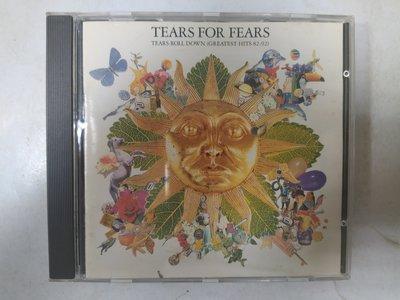 昀嫣音樂(CDa19)  TEARS FOR FEARS TEARS ROLL DOWN 法國壓片 保存如圖 售出不退