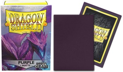 【雙子星】龍盾卡套 Purple AT-11809 NON GLARE MATTE 適用 MTG 綠色指揮官魔法書