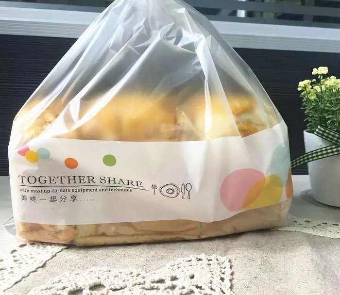 Amy烘焙網:分享美味霧面加厚立體12兩土司袋 450G土司袋  餅乾點心袋 一包100入