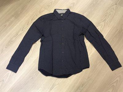 日本品牌 RAGEBLUE 點點 深藍 長袖襯衫