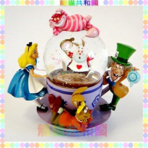 ※龍貓共和國※日本迪士尼DISNEY《Alice愛麗絲夢遊仙境 艾莉絲 時間兔 笑笑貓 水晶球 裝飾品 擺飾》
