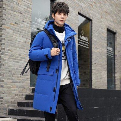 冬季保暖抗寒羽絨服羽絨服男士加厚高絨過膝長款加厚冬季夾克外套2020年新款潮流男裝