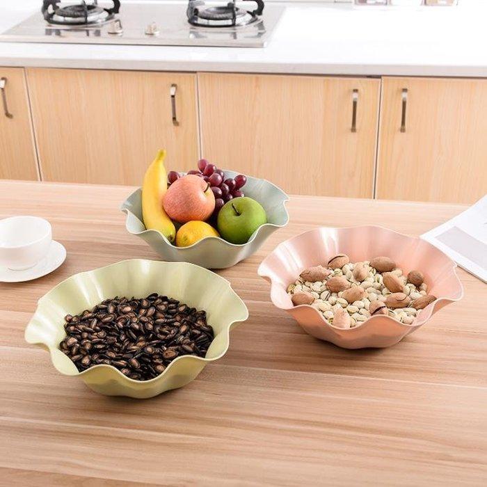 塑料堅果KTV水果盤家用客廳現代創意瓜子干果零食小吃塑料糖果盤Y-優思思