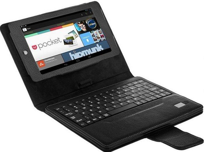 谷歌 google Nexus 平板電腦無線藍牙鍵盤保護皮套856