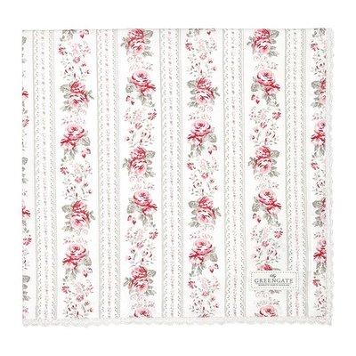 GreenGate Tablecloth Vilma Vintage with Lace 150x150cm (桌巾)