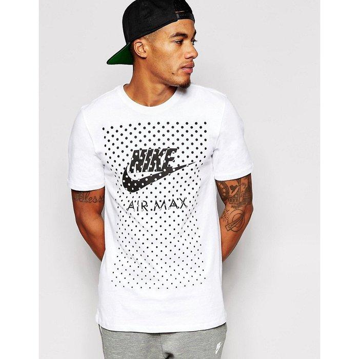美國百分百【全新真品】Nike Air MaxT恤 耐吉 短袖 T-shirt 設計點點 logo 白色 S號 G782