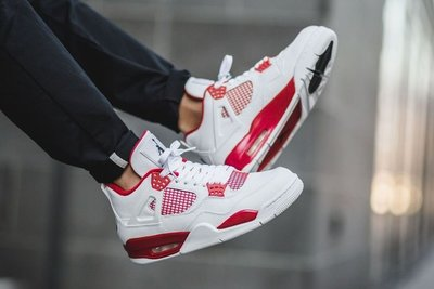 Nike Air Jordan 4 retro BG Alternate 89 408452-106白紅AJ-4大童女鞋