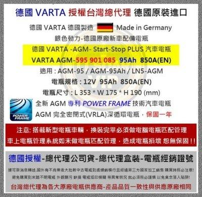 啟停系統 VARTA電池 G14 95AH AGM BMW X5 3.0d sd xDrive 30 48 50i系列