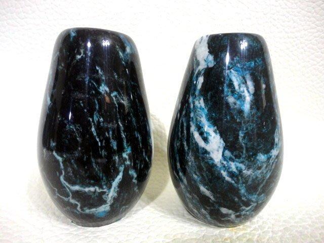 天然礦石 花東七彩玉花瓶聚寶盆系列~ 藍晶花瓶對組