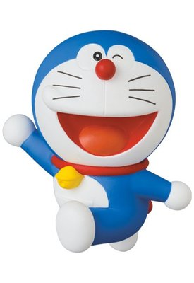 日本 東京 MEDICOM TOY 藤子F不二雄博物館 哆啦A夢 打招呼 UDF 公仔 模型 玩具 NO.571