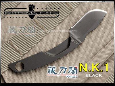 《藏刀閣》EXTREMA RATIO-(N.K.1 BLACK)尼克1號小獵刀(黑)
