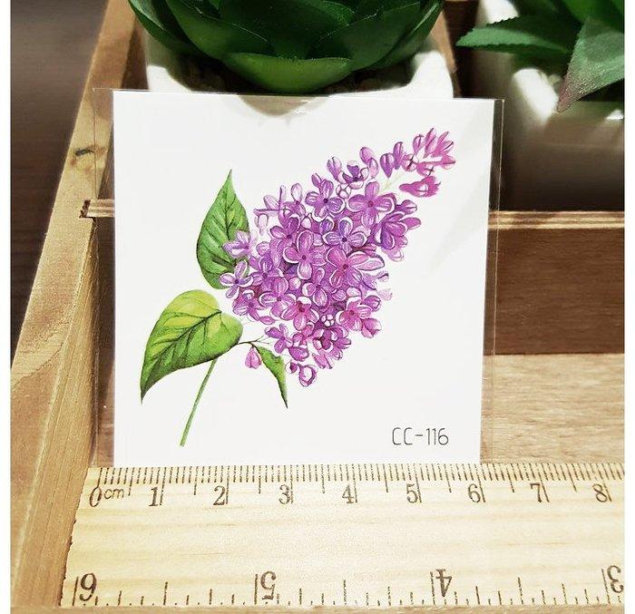 【萌古屋】花朵單圖CC-116 - 防水紋身貼紙刺青貼紙K38