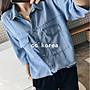 現貨 雙口袋天絲薄牛仔襯衫 CC KOREA ~ Q15845