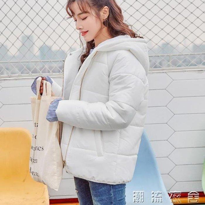 棉服女新款韓版外套加厚短款寬鬆bf小棉襖學生冬季棉衣面包服
